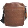 กระเป๋าผู้ชาย COACH CHARLES FLIGHT BAG IN SIGNATURE LEATHER F24868 : SADDLE