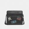 กระเป๋าผู้ชาย COACH CHARLES CAMERA BAG WITH AMERICAN DREAMING PATCHES F26079 : BLACK