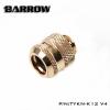 Barrow Fitting K12 V4 สีทอง ท่ออคริลิค12mm