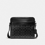 กระเป๋าผู้ชาย COACH CHARLES BAG IN SIGNATURE CANVAS F28456 : BLACK
