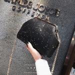 [ Pre-Order ] - กระเป๋าคลัทช์ สะพาย สีดำ ดีไซน์สวยหรู ฟรุ้งฟริ้ง วิ้งค์ๆทั้งใบ ขนาดกระทัดรัด งานสวยมากๆค่ะ