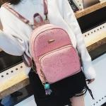 [ พร้อมส่ง Hi-End ] - กระเป๋าเป้แฟชั่น สีชมพูวิ้งค์ๆ ใบกลางๆ ดีไซน์สวยเก๋ปรับใช้งานได้หลากสไตล์ ดูดีสไตล์แบรนด์ งานหนังคุณภาพดี ไม่ซ้ำใคร