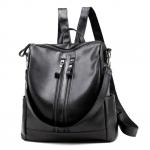 [ พร้อมส่ง ] - กระเป๋าเป้แฟชั่น สีดำคลาสสิค สุดเท่ ดีไซน์สวยเก๋ไม่ซ้ำใคร สวยสุดมั่น เหมาะกับสาว ๆ ที่ชอบกระเป๋าเป้และสะพายได้ หนังนิ่มน่าใช้ค่ะ