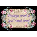 Vintage scarf & 2nd hand scarf