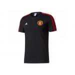 เสื้อทีเชิ้ตแมนเชสเตอร์ ยูไนเต็ด 3 Stripe T-Shirt สีดำของแท้