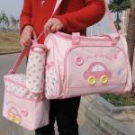 กระเป๋าคุณแม่ ใส่ของเด็กอ่อน Set สุดคุ้ม สีชมพู