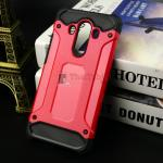 Rugged Hybrid Dual Layer Armor Case Cover For Huawei Mate 10 Pro สีแดง