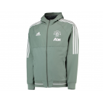 เสื้อแจ็คเก็ตแมนเชสเตอร์ ยูไนเต็ด Training Presentation Jacket สีเขียวของแท้