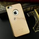 iKaku เคสครอบหลังลายเคฟล่าขอบสีทอง For Apple iPhone 7 สีทอง