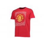 เสื้อทีเชิ้ตแมนเชสเตอร์ ยูไนเต็ด Essential Crest T-Shirt - Grey สีแดงของแท้
