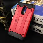 Rugged Hybrid Dual Layer Armor Case Cover For Xiaomi Note 4X สีแดง