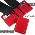 ZHUSE POWER BANK 4000mAh For Smart Phone สีแดง