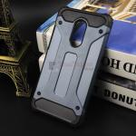 Rugged Hybrid Dual Layer Armor Case Cover For Xiaomi Note 4X สีน้ำเงิน