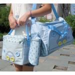 กระเป๋าคุณแม่ ใส่ของเด็กอ่อน Set สุดคุ้ม สีฟ้า