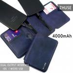 ZHUSE POWER BANK 4000mAh For Smart Phone สีน้ำเงิน