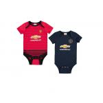 เสื้อเด็กแมนเชสเตอร์ ยูไนเต็ดขสำหรับเด็กทารก 2Pk Kit Bodysuits ลายเสื้อเหย้าและชุดที่3 ของแท้