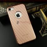 iKaku เคสครอบหลังลายเคฟล่าขอบสีทอง For Apple iPhone 7 สีRose Gold