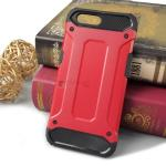 Rugged Hybrid Dual Layer Armor Case Cover For OPPO R11 สีแดง