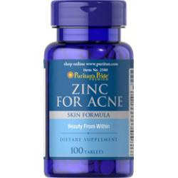 Puritan's Pride Zinc for Acne 50 mg 100 Tablets