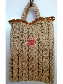 B63:กระเป๋าถือน่ารัก/กระเป๋าถักเชือกร่มดิ้นทอง สินค้าใหม่ค่ะ