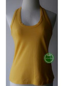 T89:2nd hand top เสื้อกล้ามสีเหลืองสดใส
