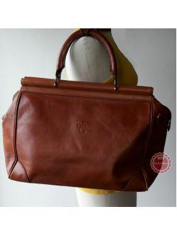 B60: Vintage leather luggage กระเป๋าเดินทางหนังแท้ ทรงวินเทจ