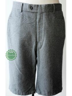 P7:2nd hand pants กางกางขาสั้นสีเทาเนื้อผ้ามีลาย