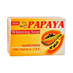 เรียวครีม สบู่มะละกอ (Papaya Whitening Soap) สบู่มะละกอ หน้าขาว+ใส ปกป้องผิวหน้าของคุณจากแสงแดด ใช้แล้วขาวๆๆๆๆ ใสๆๆๆๆ ช่วยในเรื่อง ลดฝ้า กระ จุดด่างดำ