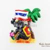 Magnet แม่เหล็กติดตู้เย็น วัสดุเรซิ่น ลายไทย ลวดลายช้างชูธงชาติไทย ปั้มลายเนื้อนูน ลงสีสวยงาม สินค้าพร้อมส่ง