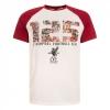 เสื้อทีเชิ้ตลิเวอร์พูลของแท้ 125 Mens White Montage Raglan Tee