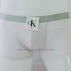 กางเกงในชาย Calvin Klein Boxer Briefs : สีขาว แถบเงินขอบเล็ก