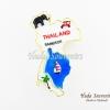 Magnet แม่เหล็กติดตู้เย็น วัสดุเรซิ่น ลายไทย รูปทรงแผนที่ประเทศไทย ลวดลายเอกลักษณ์ของไทย ปั้มลายเนื้อนูน ลงสีสวยงาม สินค้าพร้อมส่ง