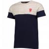 เสื้อทีเชิ้ตแมนเชสเตอร์ ยูไนเต็ดของแท้ Manchester United Vintage Colourblock T-Shirt สีเทาน้ำเงินของแท้