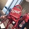 [ พร้อมส่ง ] - กระเป๋าเป้แฟชั่น สไตล์ยุโรป สีแดง Spur ใบเล็กกระทัดรัด ดีไซน์สวยเก๋ไม่ซ้ำใคร เหมาะกับสาว ๆ ที่กำลังมองหากระเป๋าเป้ใบจิ๋ว