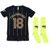 เสื้อไนกี้แมนเชสเตอร์ ซิตี้ 2018 2019 ทีมเยือน Champions 18 สำหรับเด็กเล็กของแท้
