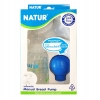 ที่ปั๊มนม เก็บลงขวด Natur ปั๊มมือลูกยางซิลิโคน BPA-Free แถมฟรีแผ่นซับ 2 ชิ้น