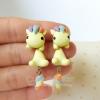 ต่างหู ม้ายูนิคอร์น สีเหลือง Yellow Unicorn Earrings