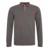 เสื้อโปโลลิเวอร์พูลของแท้ Mens Charcoal Marl Long Sleeve Polo