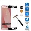 กระจกนิรภัยลงโค้ง Samsung Galaxy J7 Plus แบบเต็บจอ
