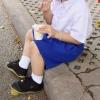 ( พรีเมี่ยม ตราเขลางค์เมืองเด็ก ) กางเกงนักเรียนผ้าโทเรสีน้ำเงิน