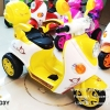 SL3603Y มอเตอร์ไซค์เด็กนั่งไฟฟ้า ยี่ห้อ Scoopy มีเข็มขัดนิรภัย สีเหลือง