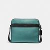 กระเป๋าผู้ชาย COACH CHARLES CAMERA BAG IN COLORBLOCK F26077 : TURQUOISE