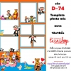 Template photo mix ขนาด 12x18 รหัส D-074