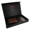 ชุดกระเป๋าสตางค์พวงกุญแจหนังลิเวอร์พูล Brown Signature Wallet and Keyring Set ของแท้