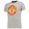 เสื้อทีเชิ้ตแมนเชสเตอร์ ยูไนเต็ด Core Crest T-Shirt - Red สีเทาของแท้