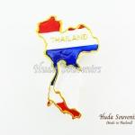 Magnet แม่เหล็กติดตู้เย็น วัสดุเรซิ่น ลายไทย ลวดลายแผนที่ประเทศไทย สีธงชาติไทย ปั้มลายเนื้อนูน ลงสีสวยงาม สินค้าพร้อมส่ง