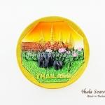 Magnet แม่เหล็กติดตู้เย็น วัสดุเรซิ่น ลายไทย ลวดลายเอกลักษณ์ไทย ปั้มลายเนื้อนูน ลงสีสวยงาม สินค้าพร้อมส่ง