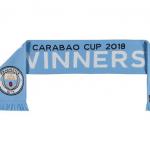 ผ้าพันคอแมนเชสเตอร์ ซิตี้ที่ระลึกแชมป์คาราบาวคัพ 2018 Carabao Cup Winners Scarf 2018 ของแท้