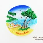 Magnet แม่เหล็กติดตู้เย็น วัสดุเรซิ่น ลายไทย ลวดลายชายหาดไทย ปั้มลายเนื้อนูน ลงสีสวยงาม สินค้าพร้อมส่ง