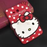 """- เคส ซิลิโคน Samsung Galaxy Tab 3 Lite 7"""" T110 ลายการ์ตูนคิดตี้ มี 3 สี ชมพู บานเย็น แดง"""